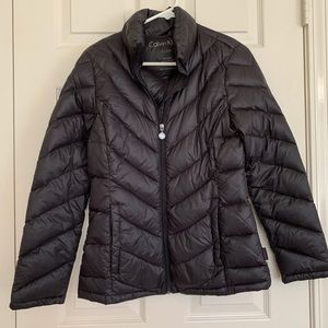 Calvin Klein black packable down jacket size small